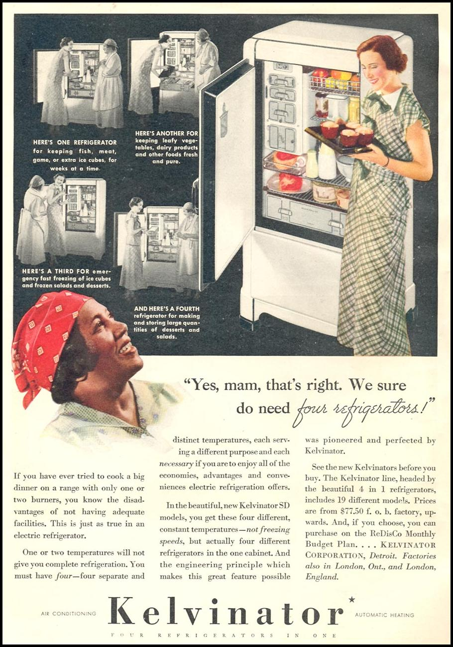 KELVINATOR REFRIGERATORS GOOD HOUSEKEEPING 06/01/1935 p. 176