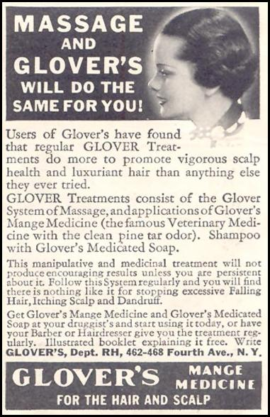 GLOVER'S MANGE MEDICINE GOOD HOUSEKEEPING 03/01/1935 p. 208