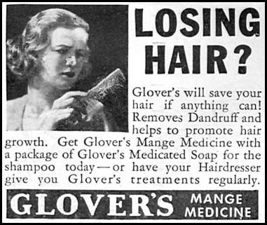 GLOVER'S MANGE MEDICINE GOOD HOUSEKEEPING 04/01/1936 p. 245