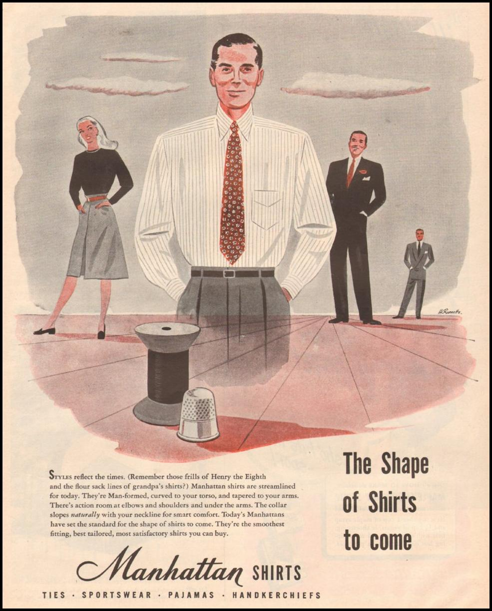 MANHATTAN SHIRTS LIFE 03/12/1945 p. 69