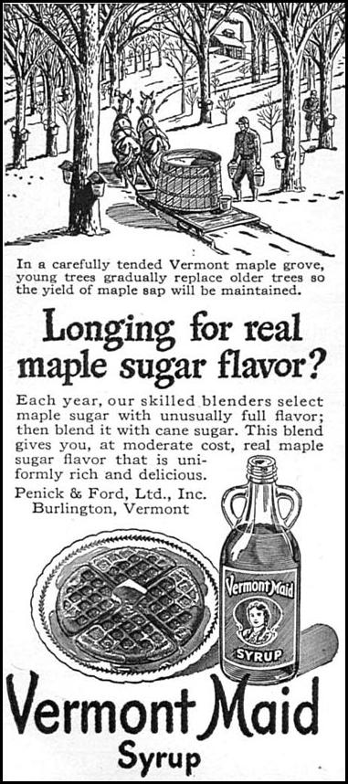 VERMONT MAID SYRUP WOMAN'S DAY 04/01/1949 p. 114