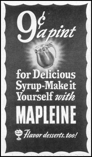 MAPLEINE IMITATION MAPLE FLAVOR WOMAN'S DAY 10/01/1949 p. 146