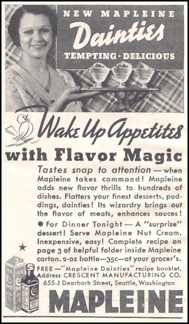 MAPLEINE IMITATION MAPLE FLAVOR GOOD HOUSEKEEPING 03/01/1935 p. 224