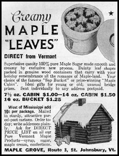 CREAMY MAPLE LEAVES GOOD HOUSEKEEPING 12/01/1935 p. 183