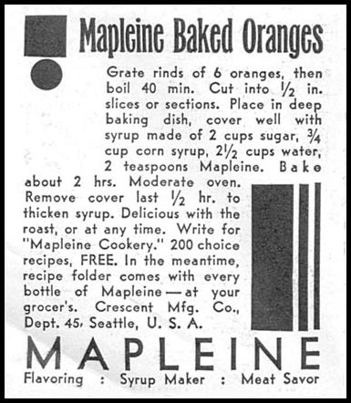 MAPLEINE IMITATION MAPLE FLAVOR GOOD HOUSEKEEPING 01/01/1932 p. 170