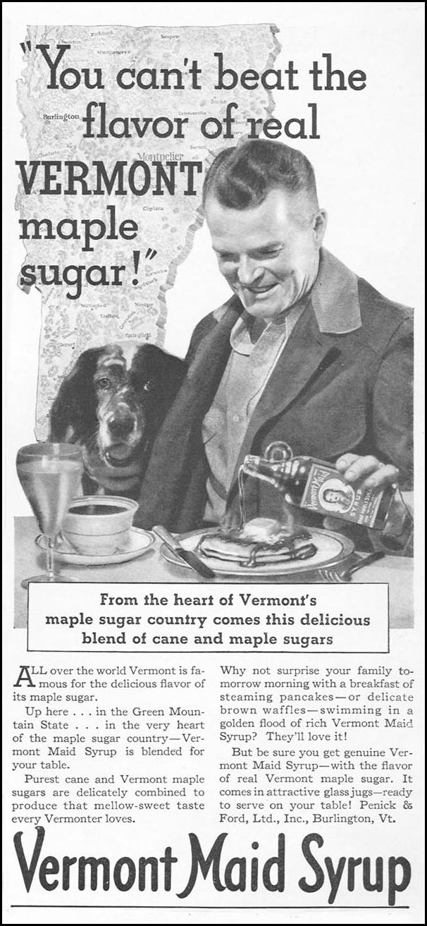 VERMONT MAID SYRUP GOOD HOUSEKEEPING 12/01/1934 p. 175