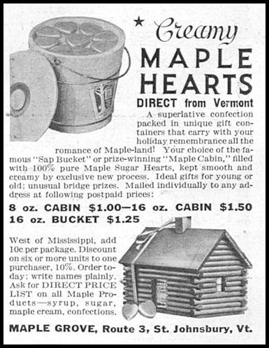 CREAMY MAPLE HEARTS GOOD HOUSEKEEPING 12/01/1934 p. 199