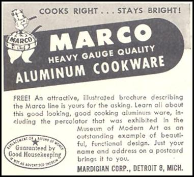 MARCO ALUMINUM COOKWARE GOOD HOUSEKEEPING 07/01/1948 p. 234