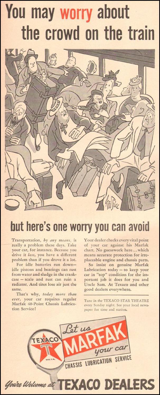 TEXACO MARFAK AUTO CHASSIS LUBRICATION LIFE 08/09/1943 p. 54