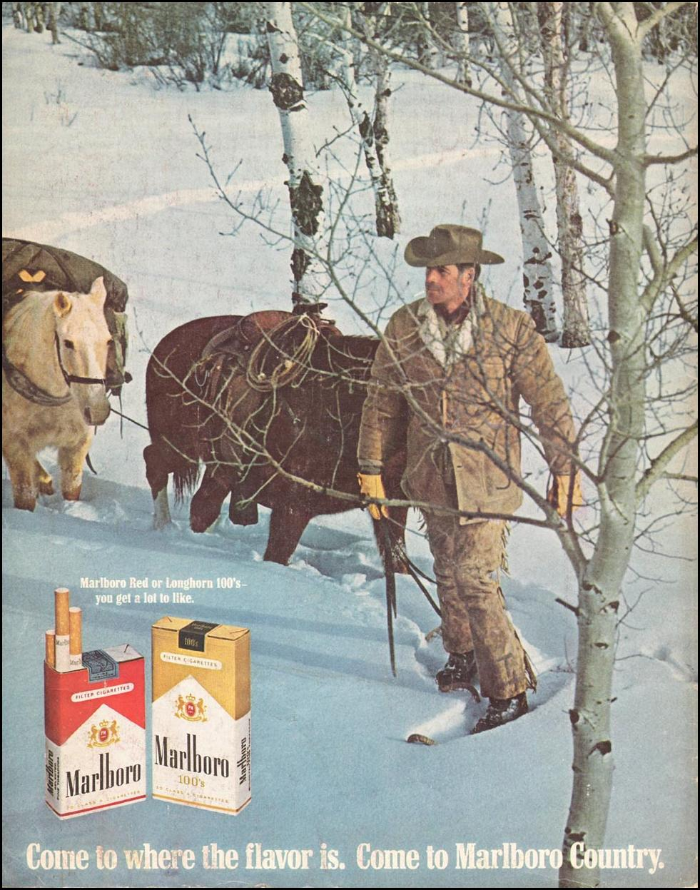 MARLBORO CIGARETTES SATURDAY EVENING POST 02/08/1969 BACK COVER