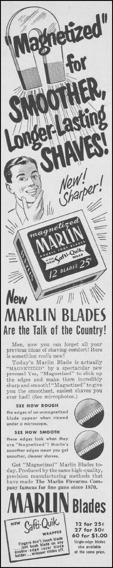 MARLIN RAZOR BLADES LIFE 07/02/1951 p. 32