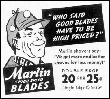 MARLIN RAZOR BLADES LIFE 10/13/1941 p. 152