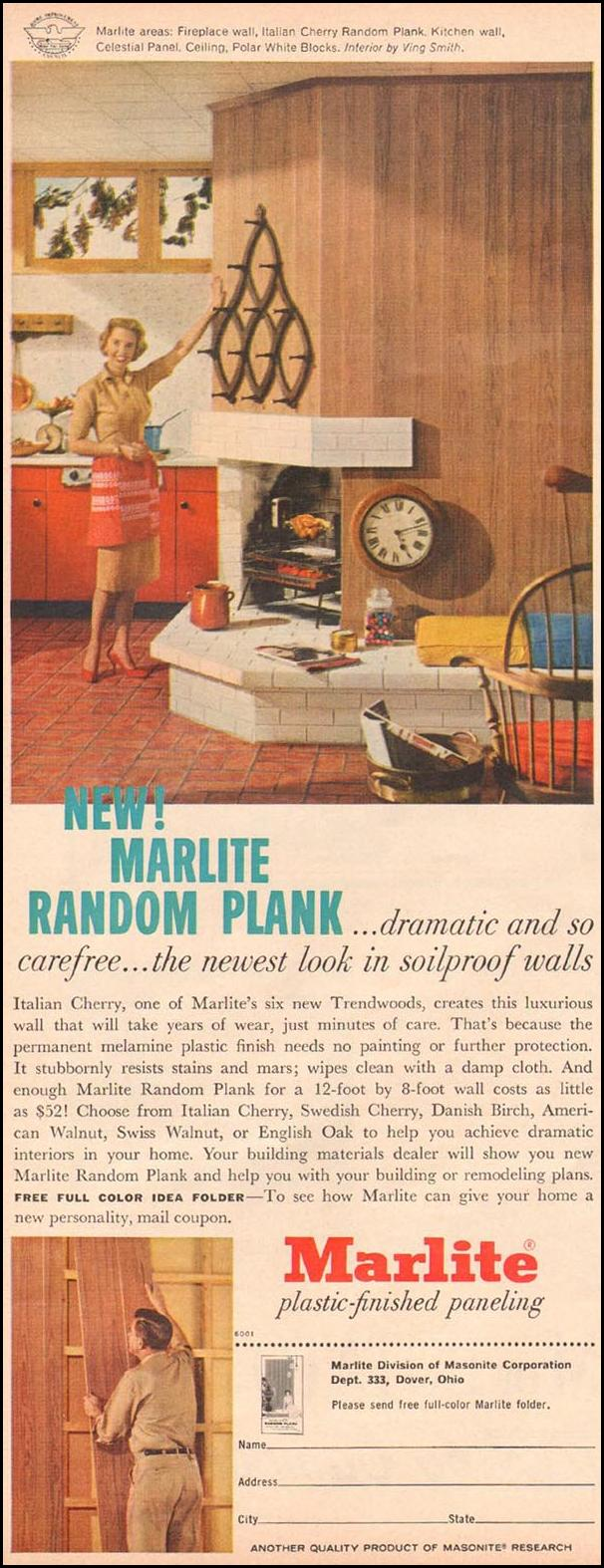 MARLITE PLASTIC-FINISHED PANELING BETTER HOMES AND GARDENS 03/01/1960 p. 120