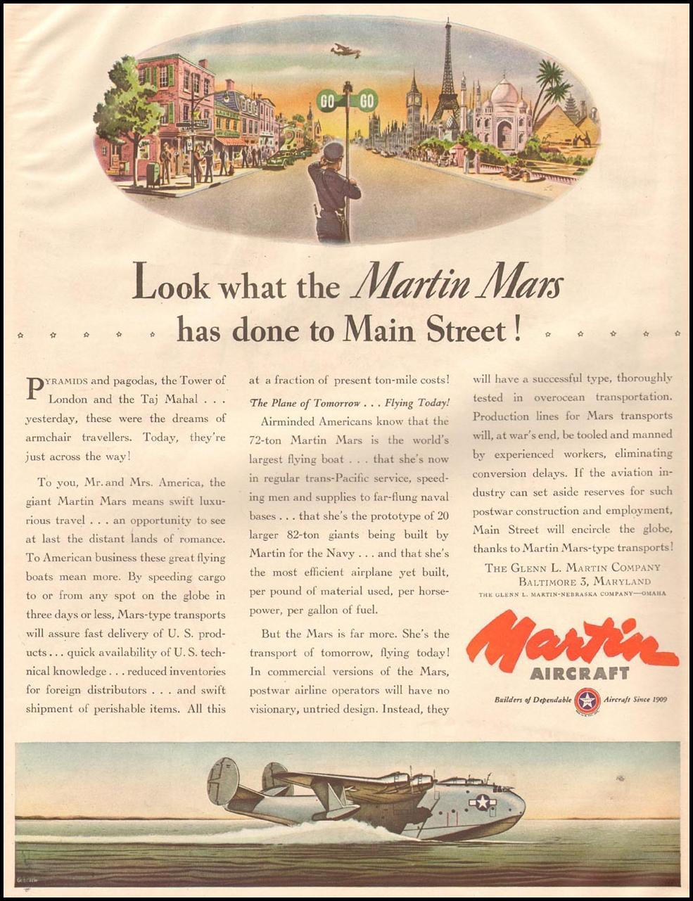MARTIN AIRCRAFT LIFE 10/23/1944