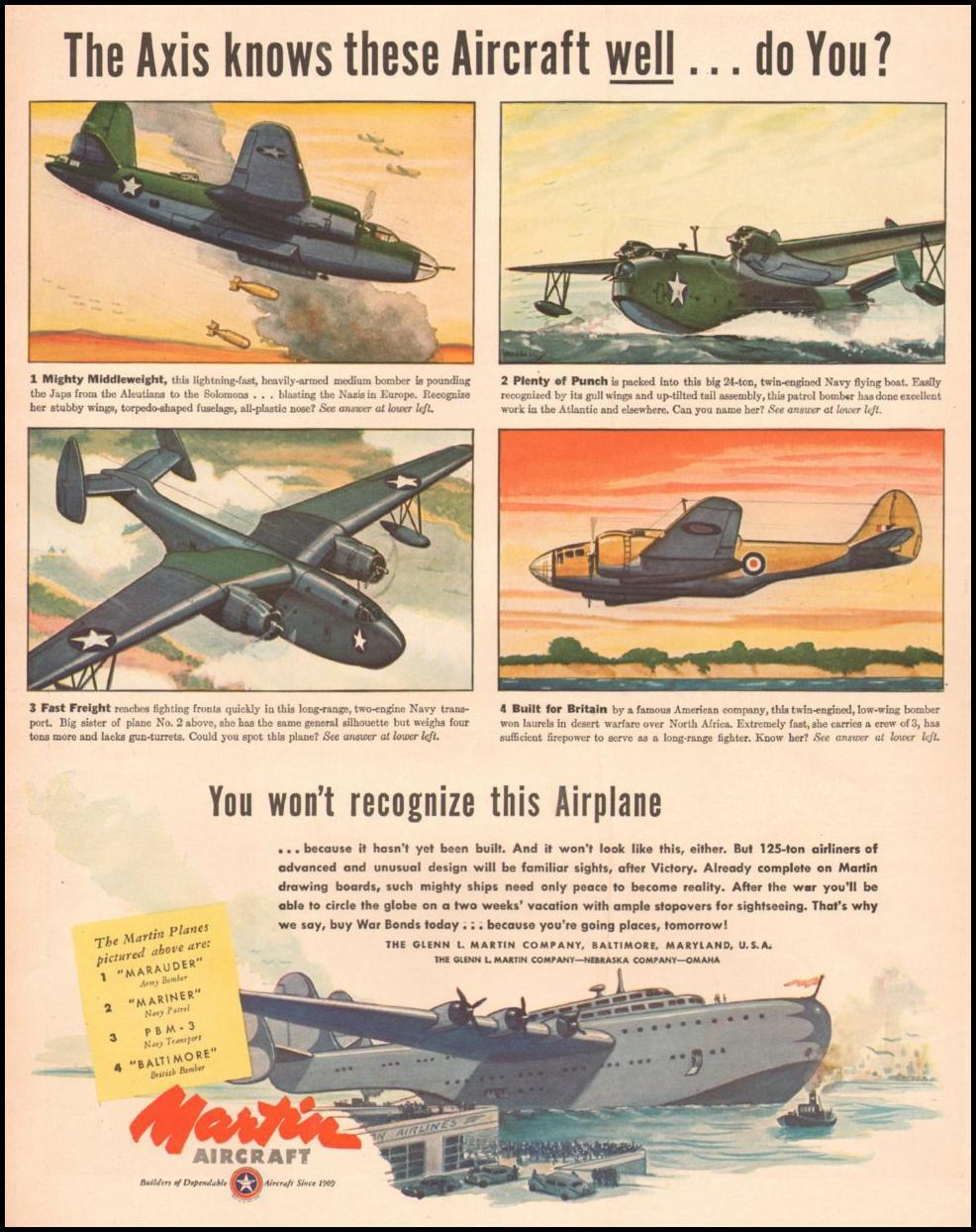 MARTIN AIRCRAFT LIFE 10/25/1943