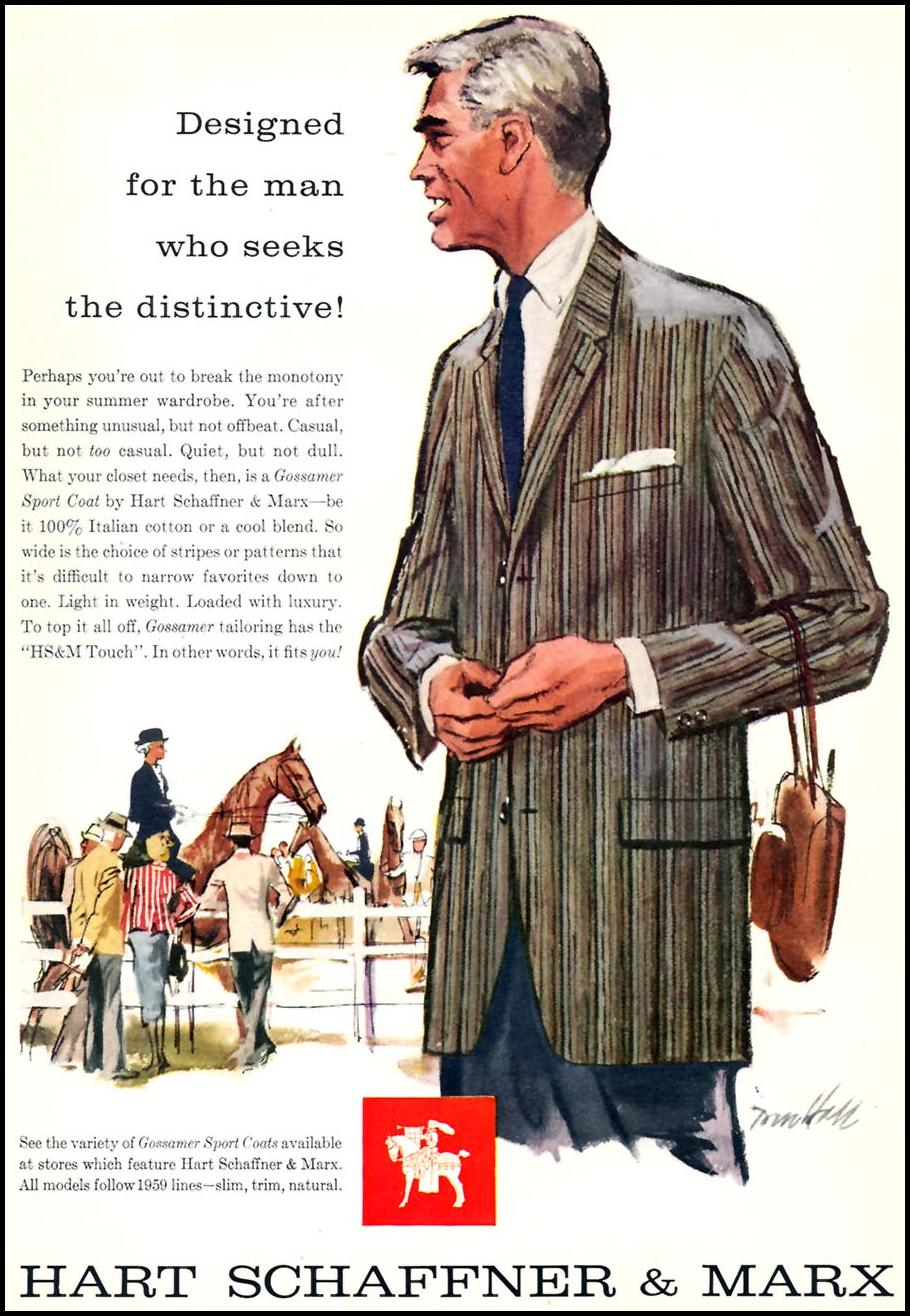 GOSSAMER SPORT COAT SPORTS ILLUSTRATED 05/11/1959 p. 45