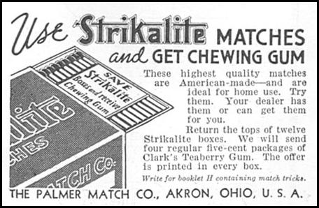 STRIKALITE MATCHES GOOD HOUSEKEEPING 06/01/1935 p. 200