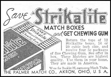 STRIKALITE MATCHES GOOD HOUSEKEEPING 12/01/1934 p. 202