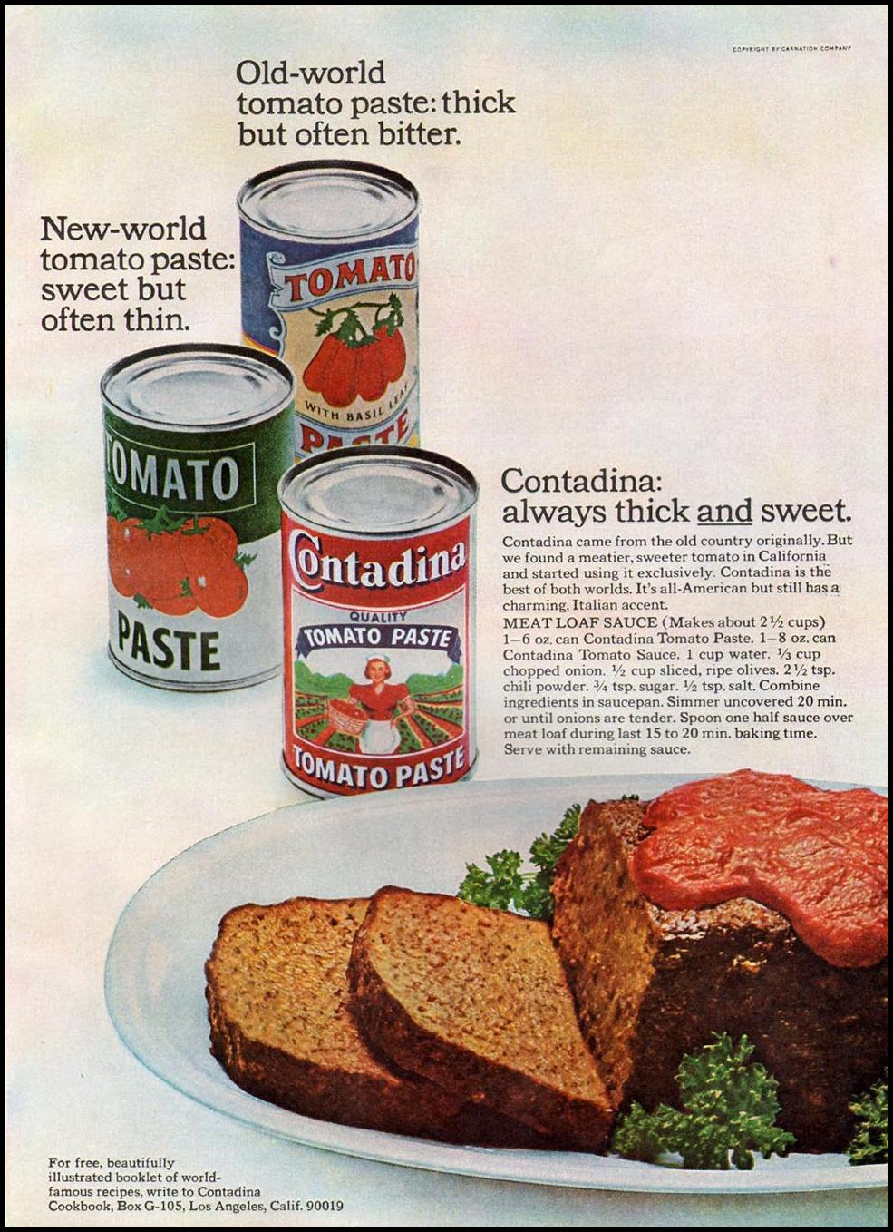 CONTADINA TOMATO PASTE GOOD HOUSEKEEPING 10/01/1965 p. 145