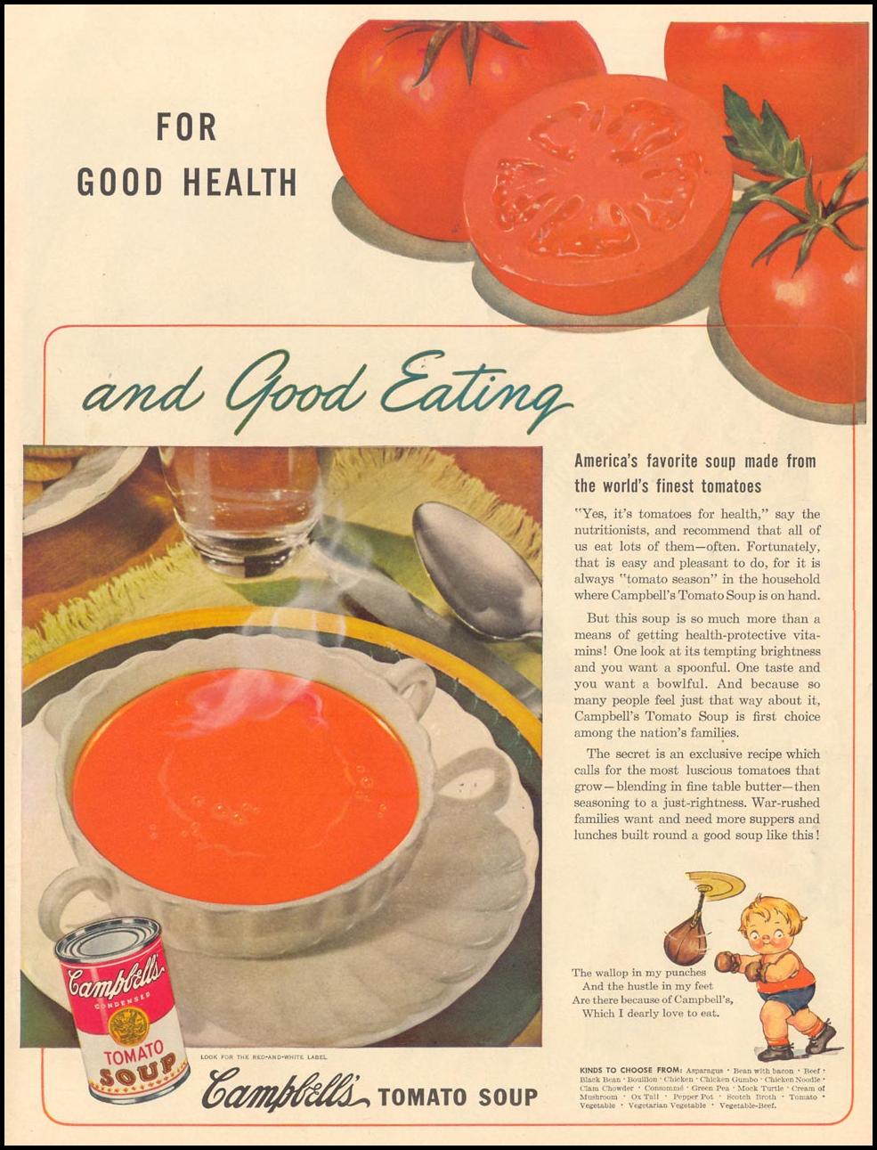 CAMPBELL'S TOMATO SOUP LIFE 02/28/1944