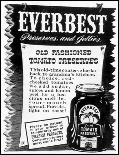 EVERBEST PRESERVES AND JELLIES LIFE 05/24/1943 p. 98