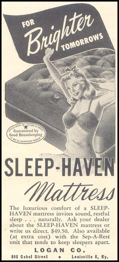 SLEEP-HAVEN MATTRESS GOOD HOUSEKEEPING 07/01/1948 p. 227