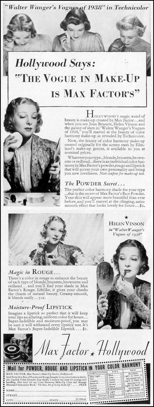 MAX FACTOR MAKE-UP LIFE 10/04/1937 p. 10