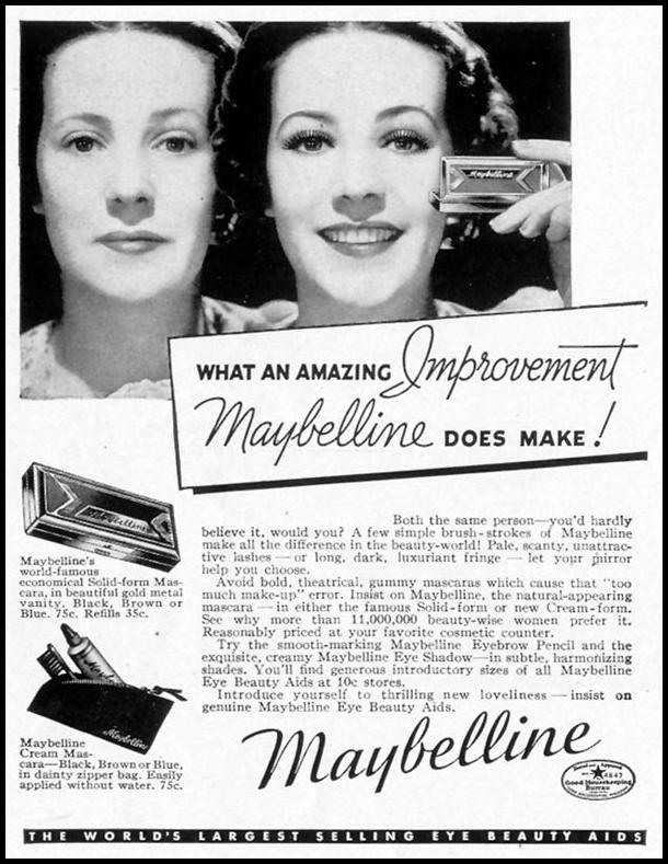 MAYBELLINE EYE BEAUTY AIDS LIFE 08/02/1937 p. 66