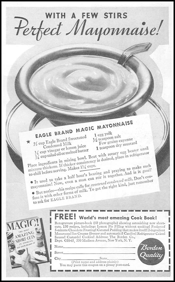 EAGLE BRAND SWEETENED CONDENSED MILKL GOOD HOUSEKEEPING 06/01/1935 p. 201
