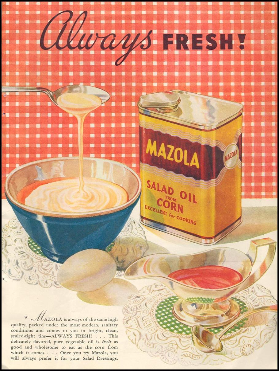 MAZOLA CORN OIL GOOD HOUSEKEEPING 06/01/1935 p. 210