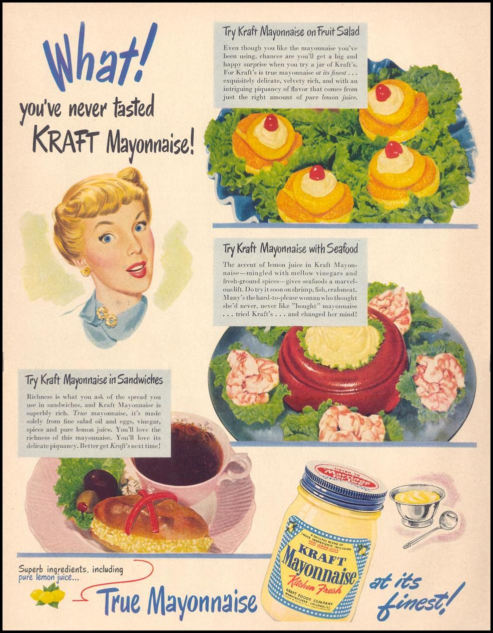 KRAFT MAYONNAISE LIFE 04/17/1950 p. 24