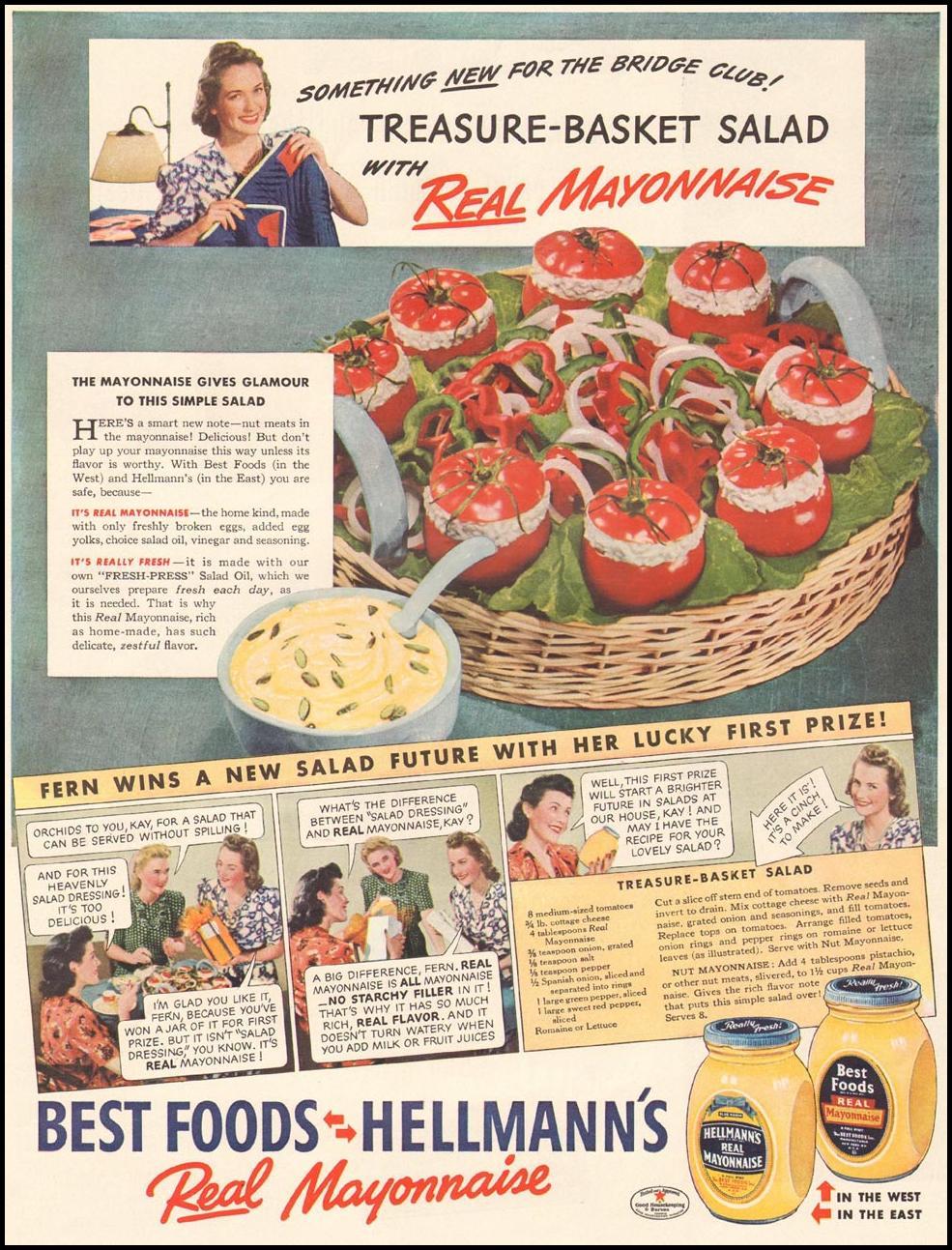 HELLMANN'S MAYONNAISE LIFE 04/28/1941 p. 60