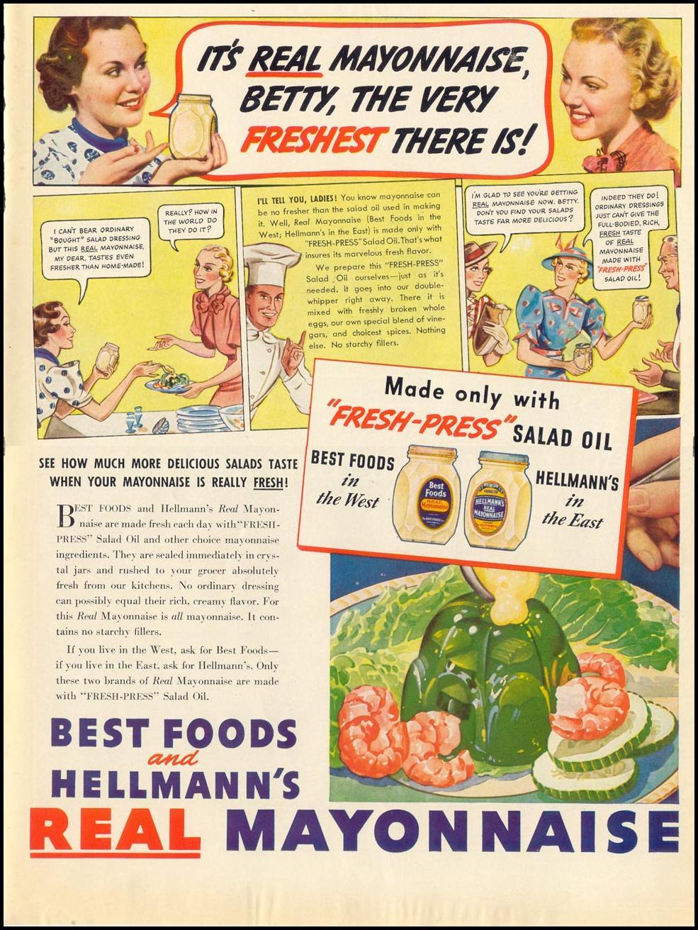 HELLMANN'S REAL MAYONNAISE LIFE 07/26/1937