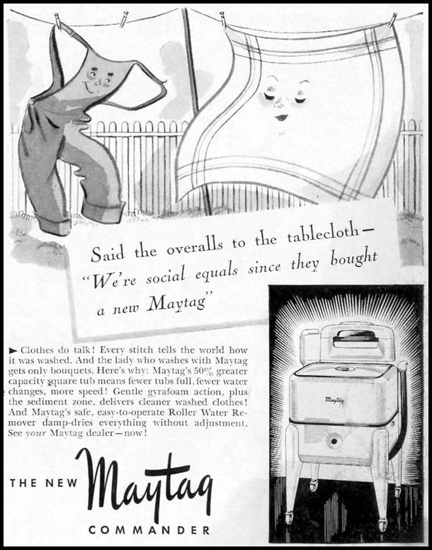 MAYTAG COMMANDER CLOTHES WASHER LIFE 06/23/1941 p. 83