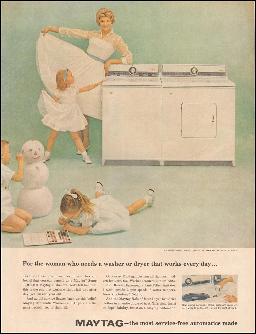 MAYTAG AUTOMATIC WASHING MACHINES LIFE 10/05/1959
