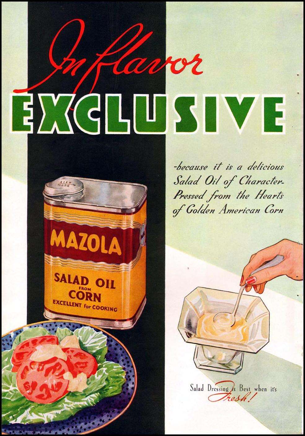 MAZOLA CORN OIL BETTER HOMES AND GARDENS 05/01/1936 p. 74