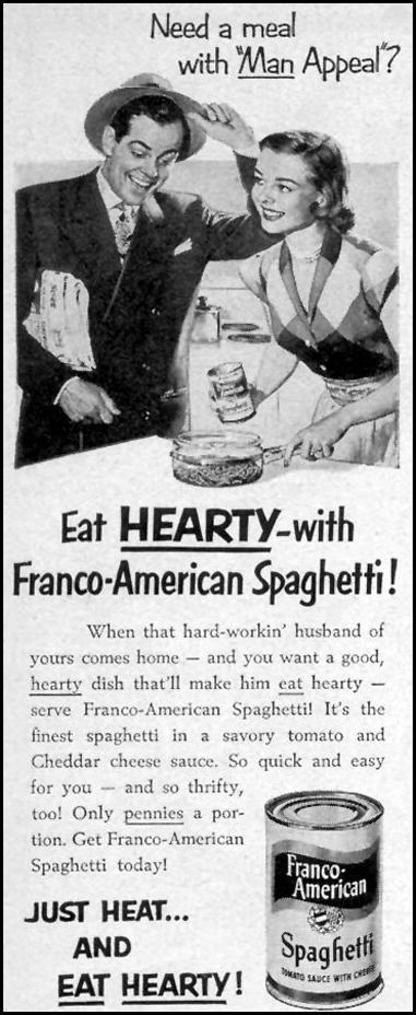FRANCO-AMERICAN SPAGHETTI LIFE 07/30/1951 p. 59