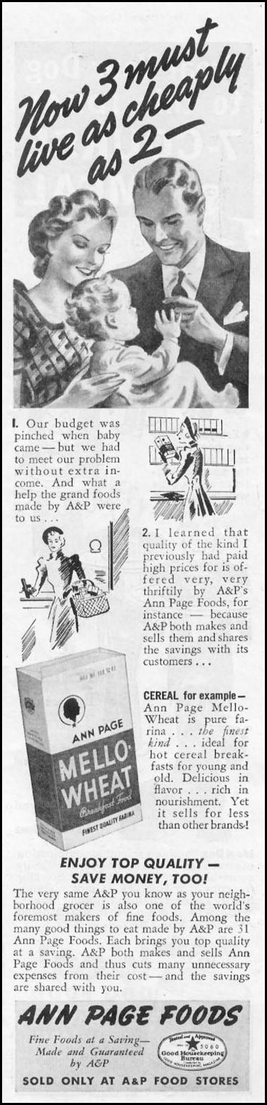 ANN PAGE FOODS WOMAN'S DAY 10/01/1939 p. 43