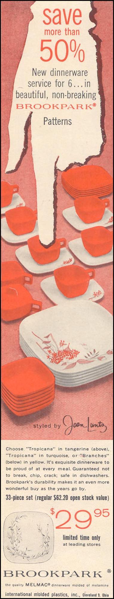 MELMAC DINNERWARE LIFE 11/11/1957 p. 150
