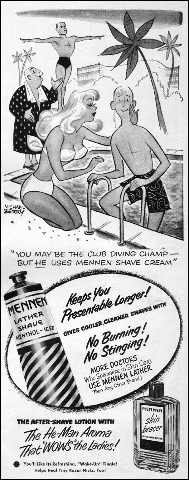 MENNEN SHAVING PRODUCTS LIFE 04/30/1951 p. 105