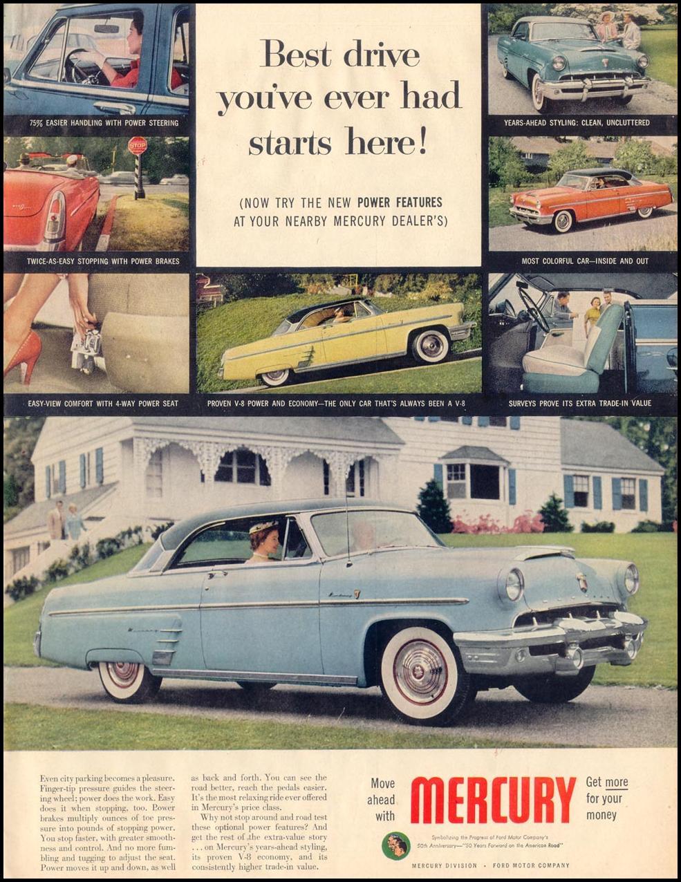 MERCURY AUTOMOBILES LIFE 08/17/1953 p. 49