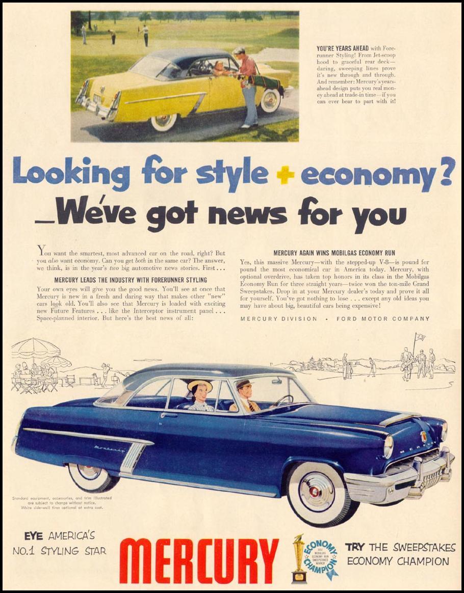MERCURY AUTOMOBILES LIFE 10/13/1952 p. 18