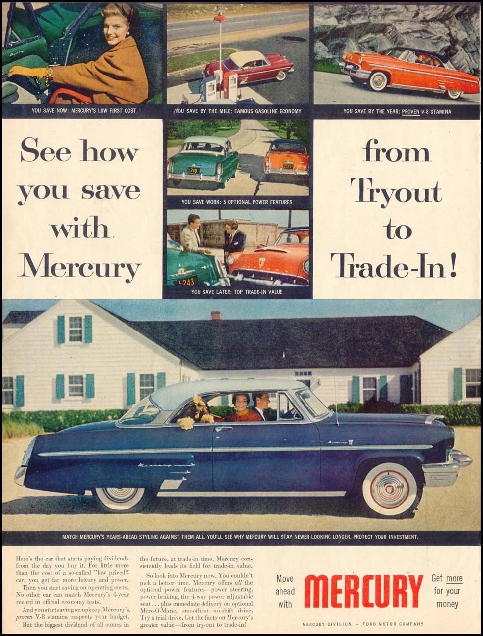 MERCURY AUTOMOBILES LIFE 10/19/1953 p. 112