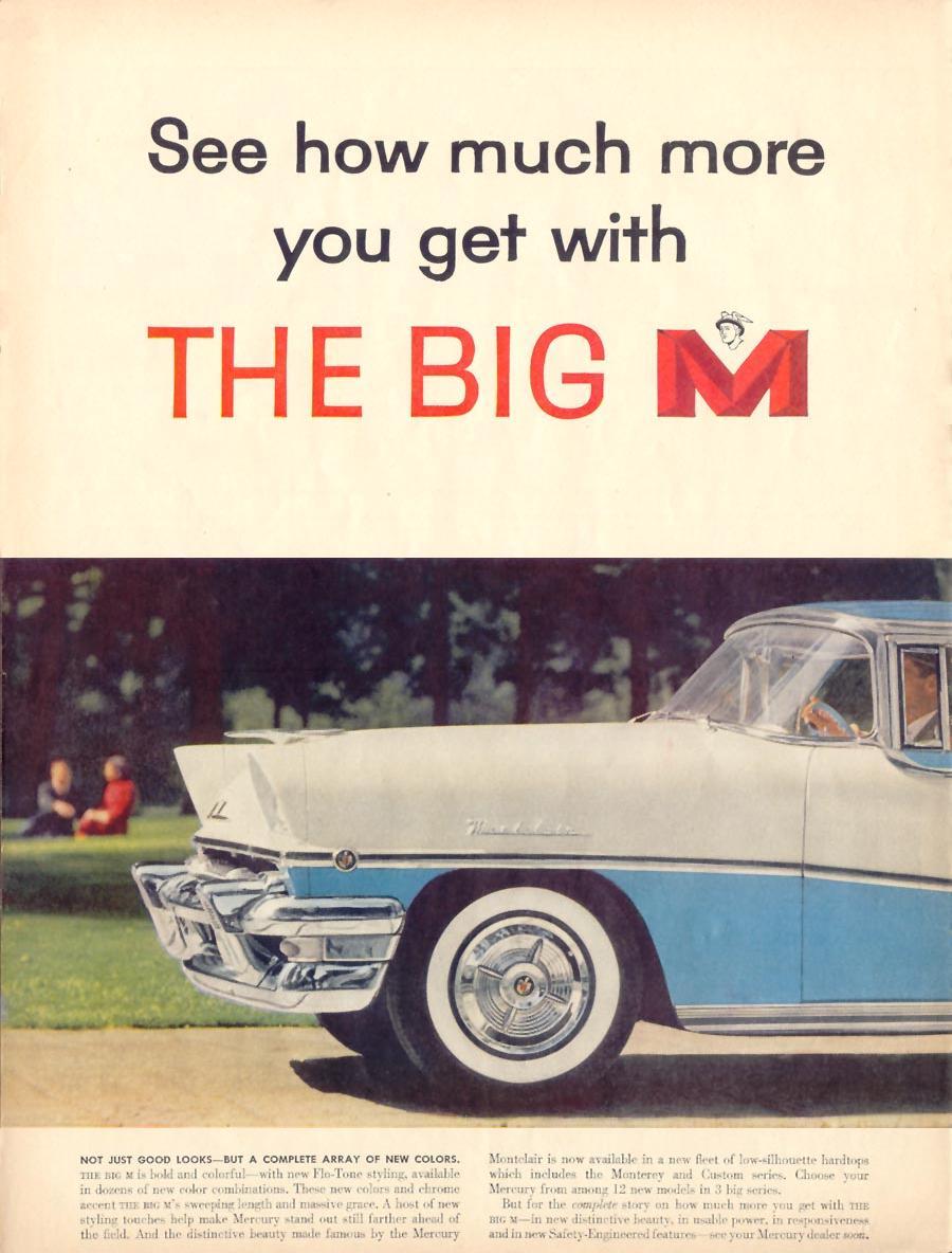 MERCURY AUTOMOBILES LIFE 11/14/1955 p. 32