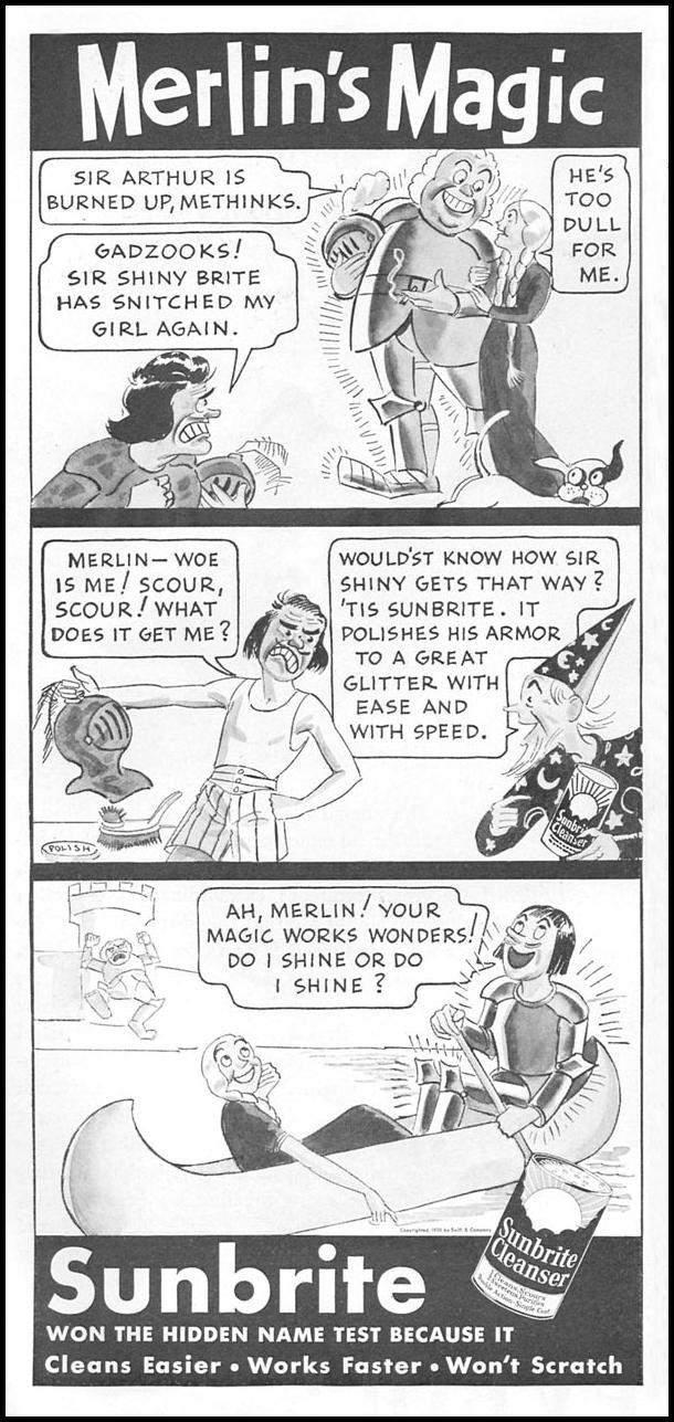SUNBRITE CLEANSER GOOD HOUSEKEEPING 04/01/1936 p. 154