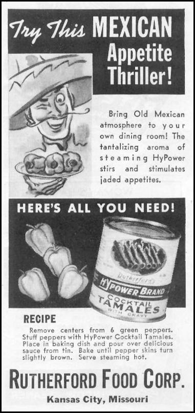 HYPOWER BRAND COCKTAIL TAMALES WOMAN'S DAY 10/01/1939 p. 45
