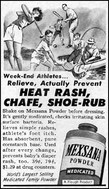 MEXSANA MEDICATED POWDER LIFE 07/01/1957 p. 104