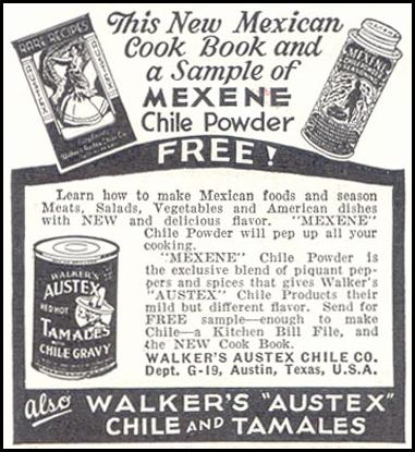 MEXENE CHILE POWDER GOOD HOUSEKEEPING 11/01/1933 p. 211