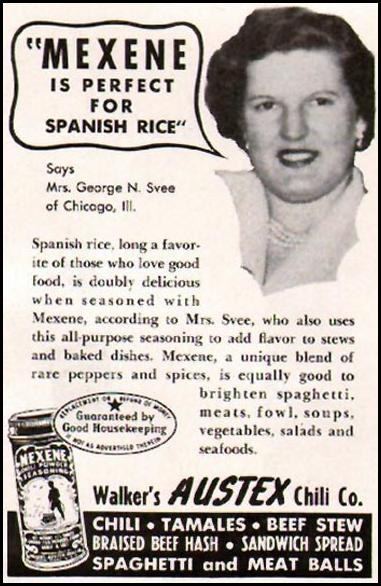 MEXENE CHILI POWDER LADIES' HOME JOURNAL 11/01/1950 p. 149
