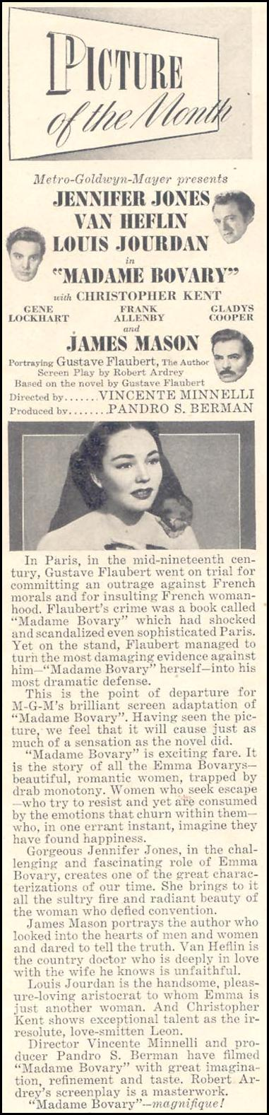 MADAME BOVARY GOOD HOUSEKEEPING 07/01/1949 p. 2